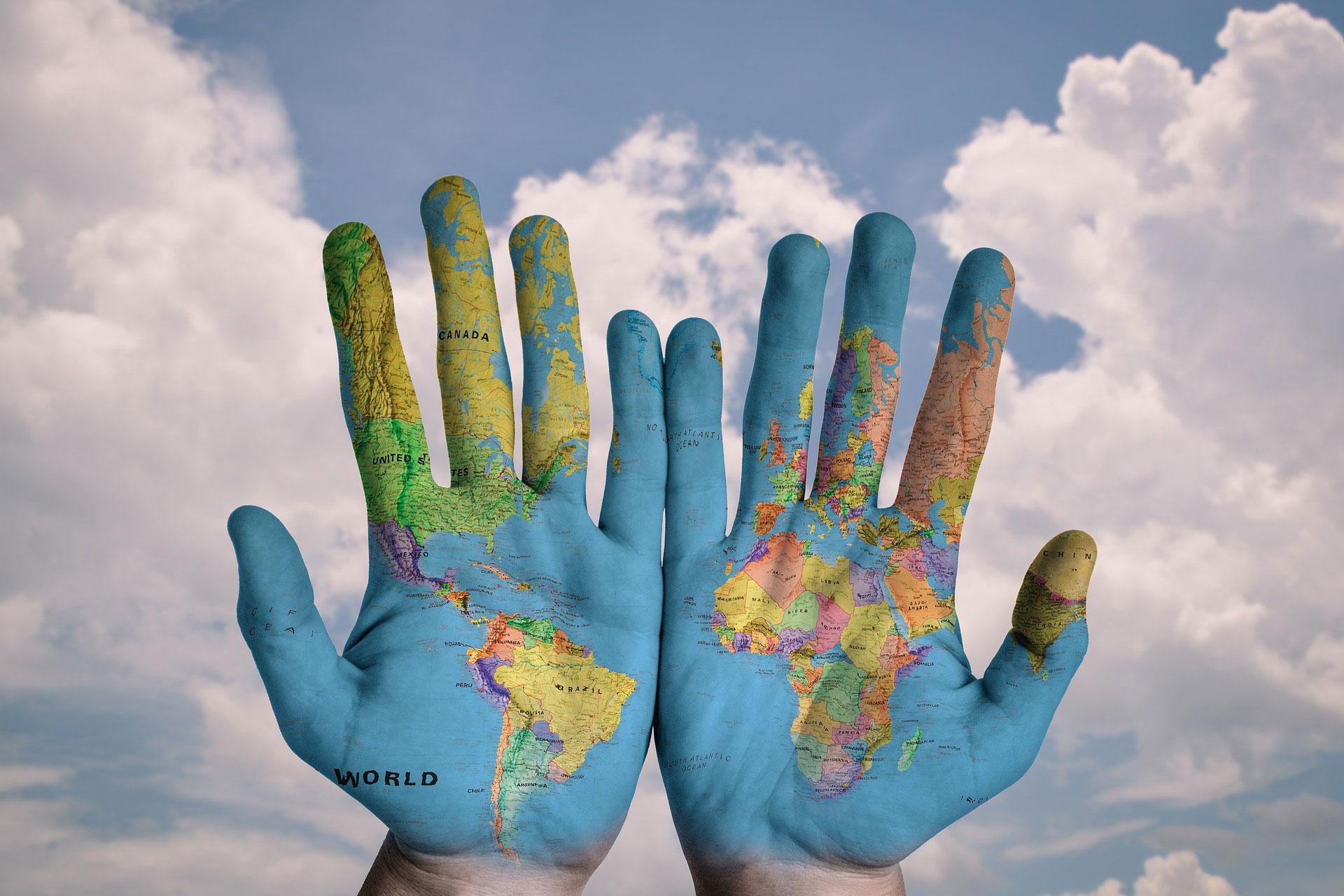 Verden på hænder